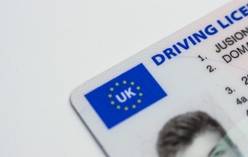 UK provisional driving licence photo card. You'll need this before you can being learning to drive.